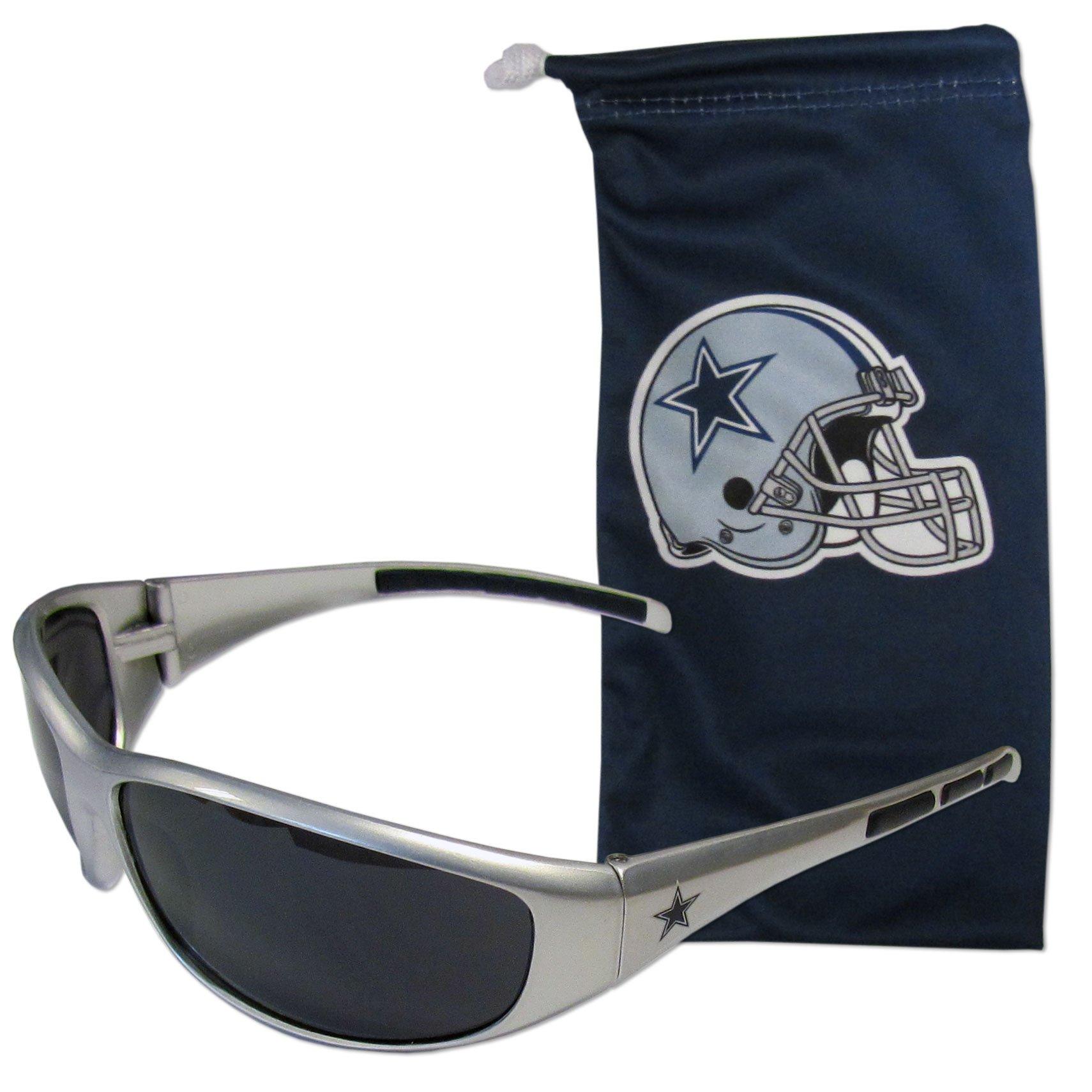 NFL Dallas Cowboys Adult Sunglass and Bag Set, Blue