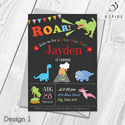 dinosaur party invitations personalised birthday invites for joint