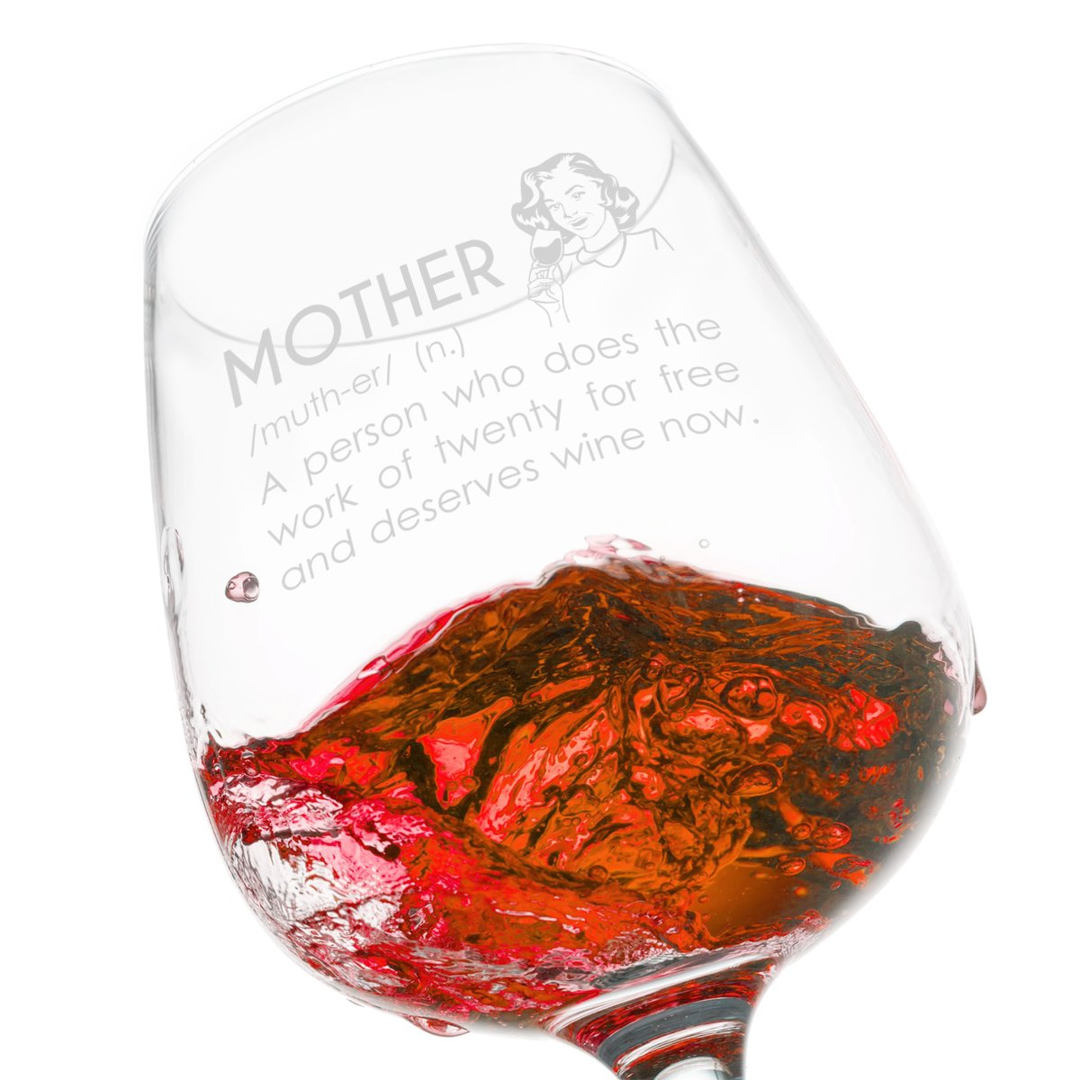 Amazon Com Du Vino Mother Definition Funny Wine Glass Gifts For