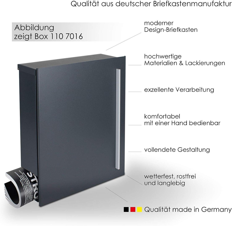 Designer Briefkasten Wandbriefkasten Postkasten Zeitungsfach MOCAVI Box 110
