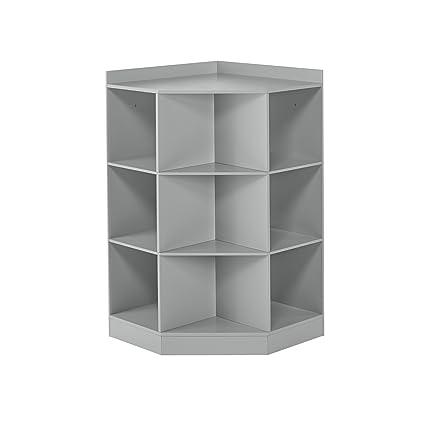 RiverRidge 6 Cubby 3 Shelf Kids Corner Cabinet Gray