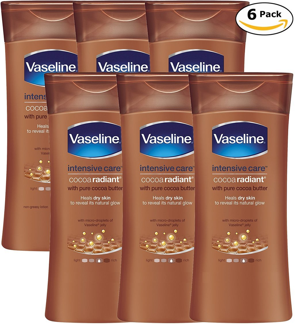 Vaseline Intensive Care Body Lotion, Cocoa Radiant, Pack of 6, (13.53 Oz/400ml Each) by Vaseline