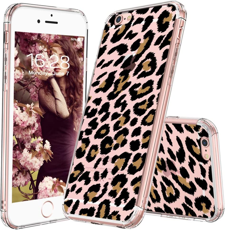 MOSNOVO Case for iPhone 6 Plus, Shockproof TPU Bumper Slim Clear Case with Leopard Print Design for iPhone 6S Plus Phone Case Cover