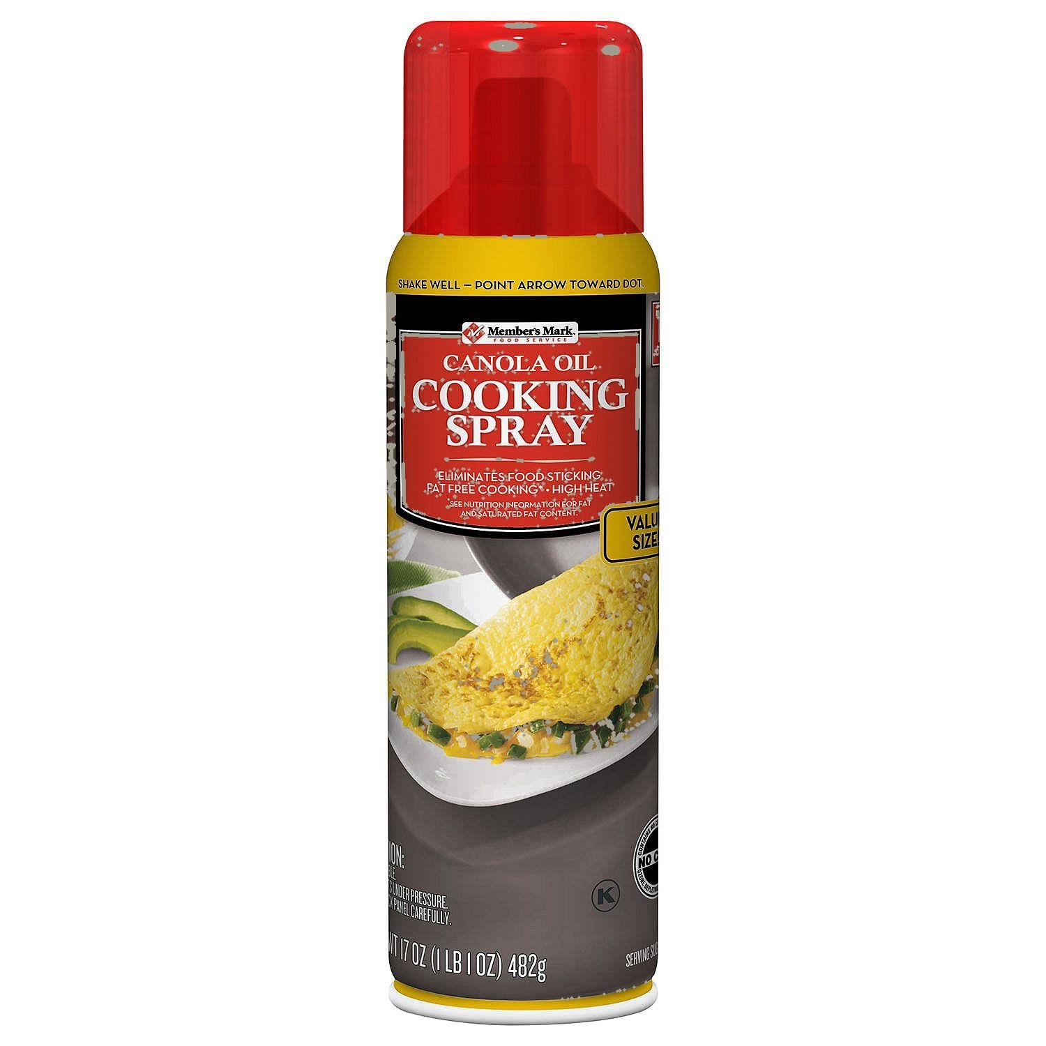 Member's Mark Canola Cooking Spray 2 17 Ounce Value Size