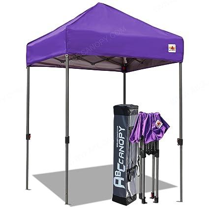 ABCCANOPY Pop Up Canopy 5u0027x5u0027 Portable Canopy Tent Bonus Carry Bag Tent  Stakes