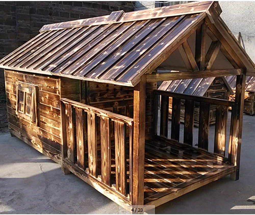 Love Boys Y Perro De Madera Maciza Dog House Kennel Casa De Madera ...