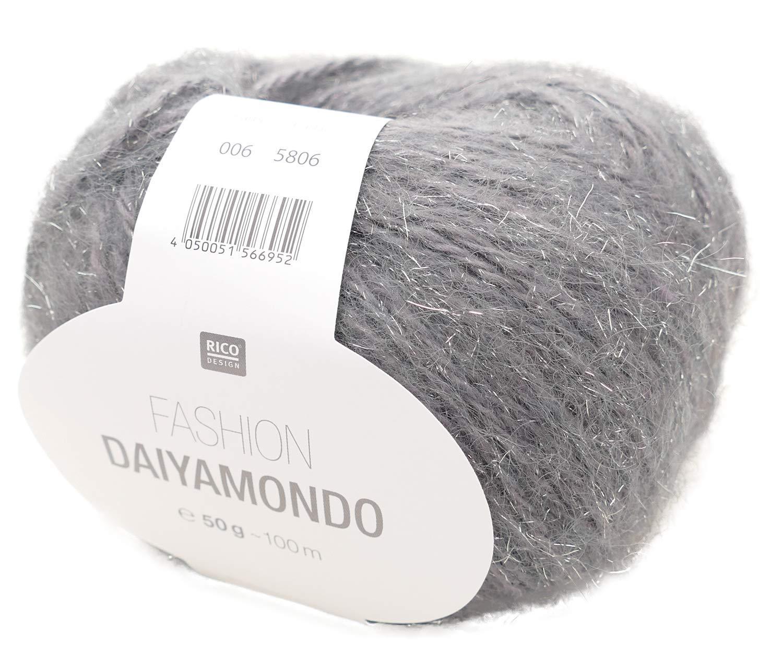 Rico DAIYAMONDO Fashion Chunky Acrylic Polyamide Wool Metallic Knitting Yarn 50g