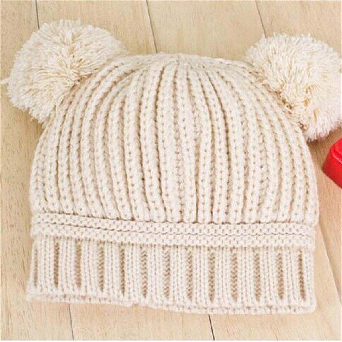 Sombrero De Tejer Para Bebé ECYC® Gorro De Invierno Pom Pom Beanie ...