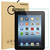 Screen Protector for iPad 2 / iPad 3 / iPad 4, GARUNK Tempered Glass Screen Protector [9H Hardness] [Crystal Clear] [Scratch Resist] [Bubble Free Install] for iPad 2 3 4 Gen 9.7-inch