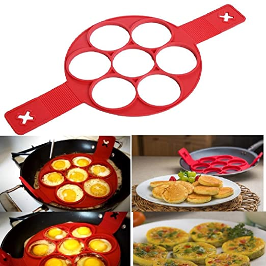 Flipp Silicone Pancake forms, 7 holes, Eggs AS SEEN ON TV NEW!