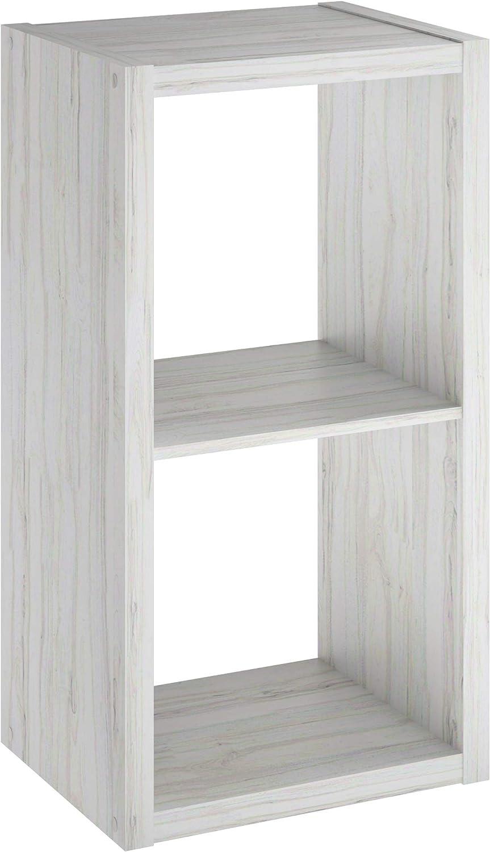 ClosetMaid 4536 Decorative Open Back 2-Cube Storage Organizer, Bleached Walnut