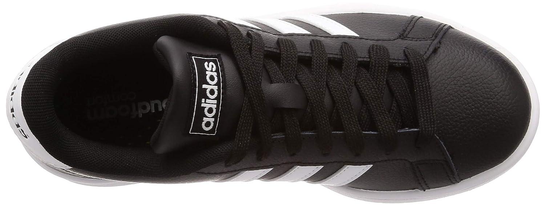 adidas Herren Grand Court Tennisschuhe Schwarz (Negbás/Ftwbla/Ftwbla 000)