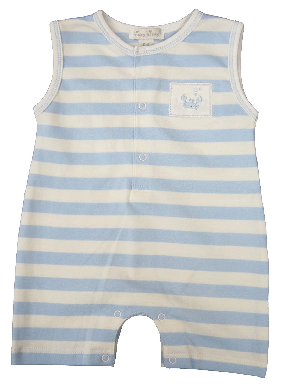 Kissy Kissy Baby-Boys Infant Curious Crabs Stripe Sleeveless Short Playsuit