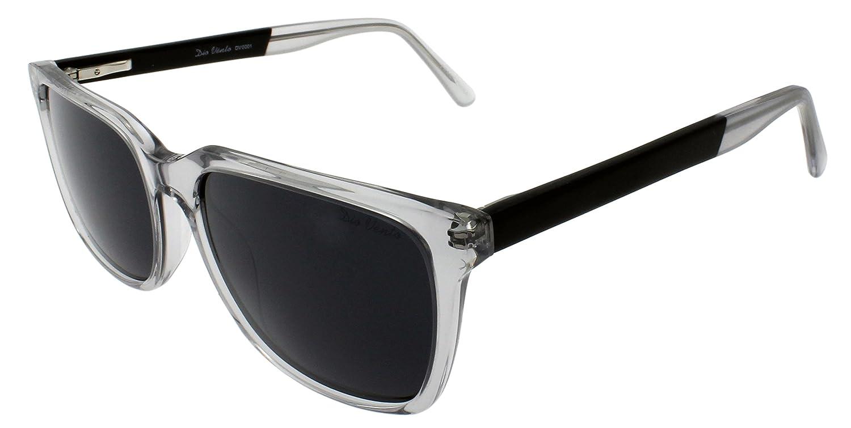 Crystal Black Frame Black Lens DIO VENTO Vintage Polarized Sunglasses for Men Women Rectangular UV400 Driving