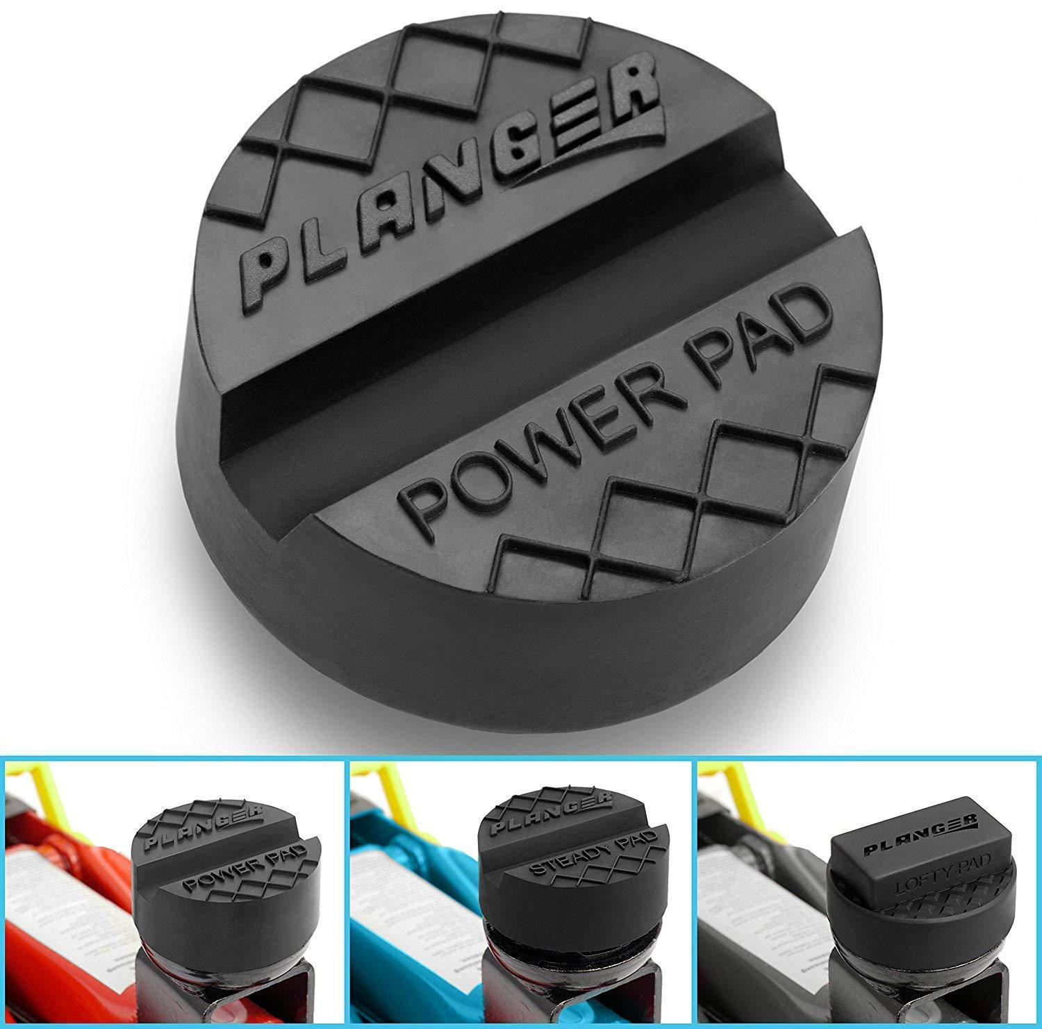 for SPECIAL CAR BRANDS from GERMANY PLANGER /® LOFTY PAD Protects your Car Trolley Jack SUV Rubber Jack Pad for Vehicle Lift and Axle Stand