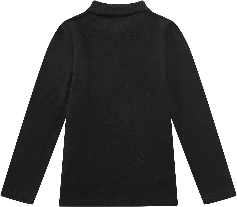 Bienzoe Girls Breathable Quick Dry Long Sleeve Polo