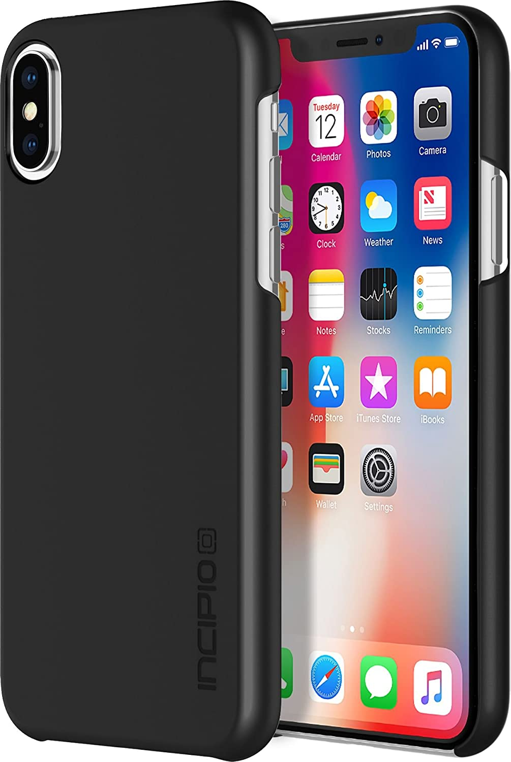 Incipio Feather iPhone X Case with Ultra-Thin Snap-On Design for iPhone X -  Black