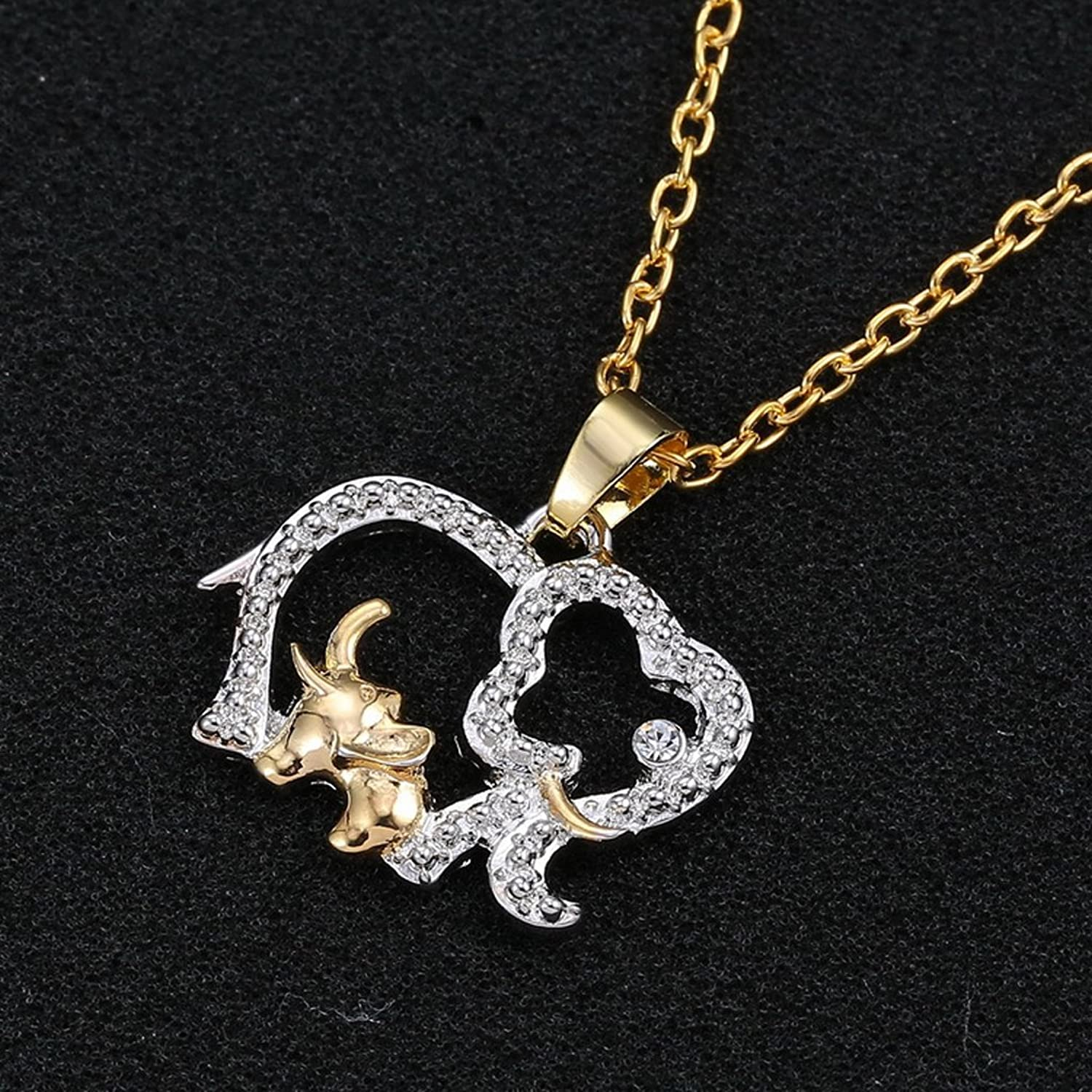 Amazon magideal elephant mom and baby pendant necklace for amazon magideal elephant mom and baby pendant necklace for mother gift gold silver jewelry mozeypictures Image collections