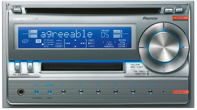 Car Audio FH-P530MD-S 2DIN CD Pioneer MD japan Carrozzeria
