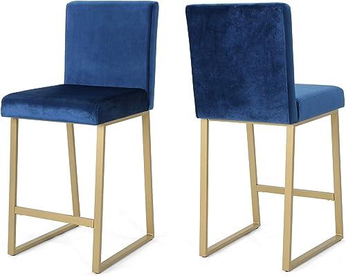 Christopher Knight Home Lexi Modern Velvet Barstools