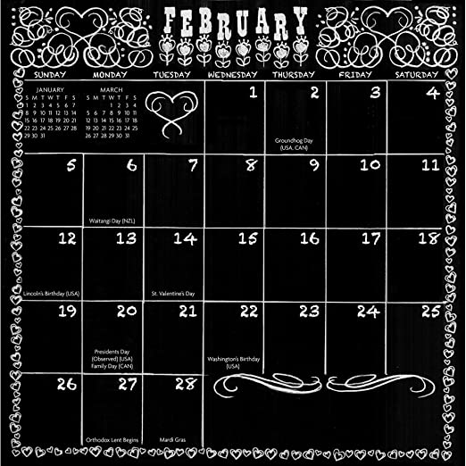 Amazon.com : Chalkboard Peel & Stick Wall Calendar : Office Products