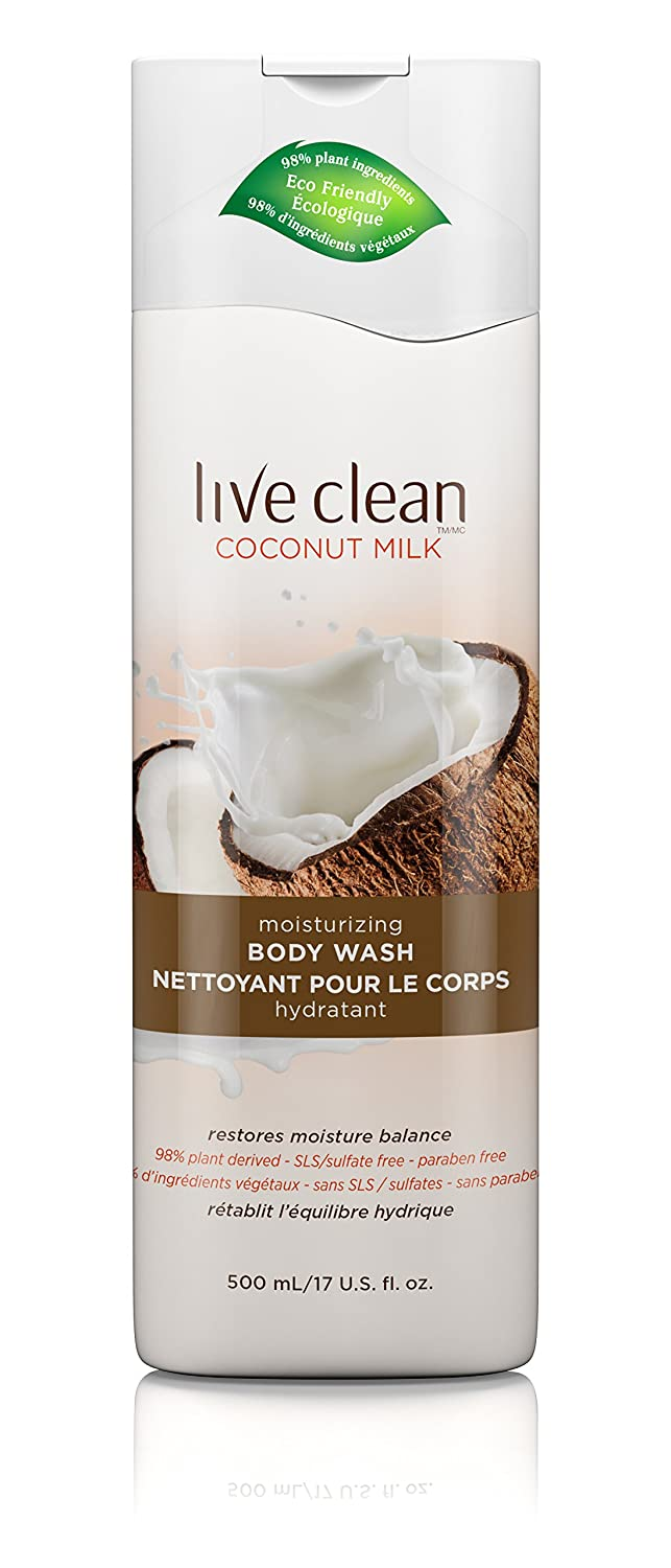 Live Clean Coconut Milk Body Wash, 500-Milliliter 65743332337