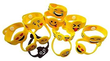 Amazon.com: OHill 40unidades Pulsera Emoji de ...