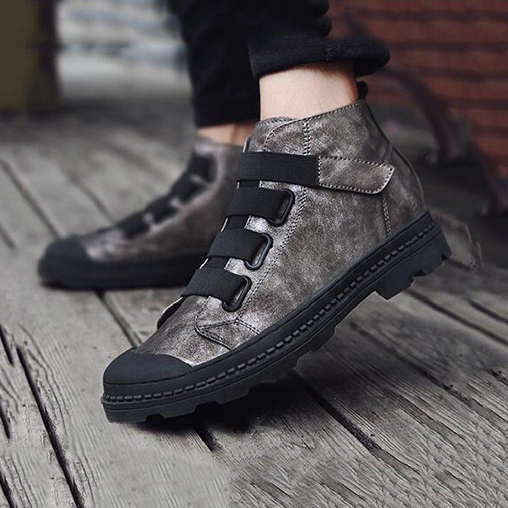 SUN Herren Herbst und Winter britischen Retro-Platte Schuhe High State State State Freizeit schwarz braun   Gun Farbe (Farbe   1, größe   EU43 UK9 CN44)  0578ec