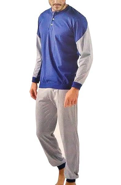comprare on line 94341 72626 Pigiama Uomo Cotone Leggero Lungo Sportivo con Polsino BIP ...