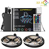Amazon Price History for:NEW 2018 LED Strip Lights Kit Non-waterproof– 32.8ft (10M) 600 LEDs SMD 3528 RGB Light with 44 Key Remote Controller, Extra Adhesive Tape, Flexible Changing Multi-Color Lighting Strips for TV, Room