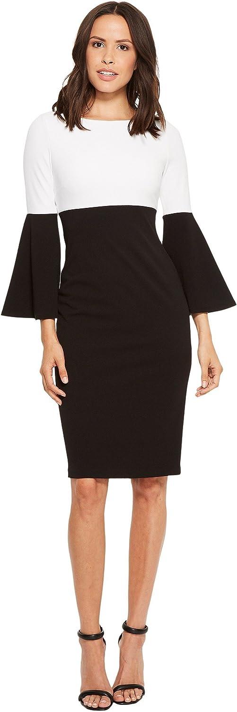 Calvin Klein Women's Color Blocked Bell Sleeve Dress
