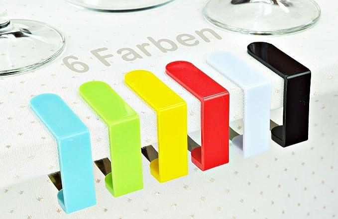 8Stück//1Set Tischtuchklammern Kunststoff Gelb