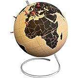 Suck Uk Cork Globe Mappamondo, Sughero, Transparente, 15x15x19 cm