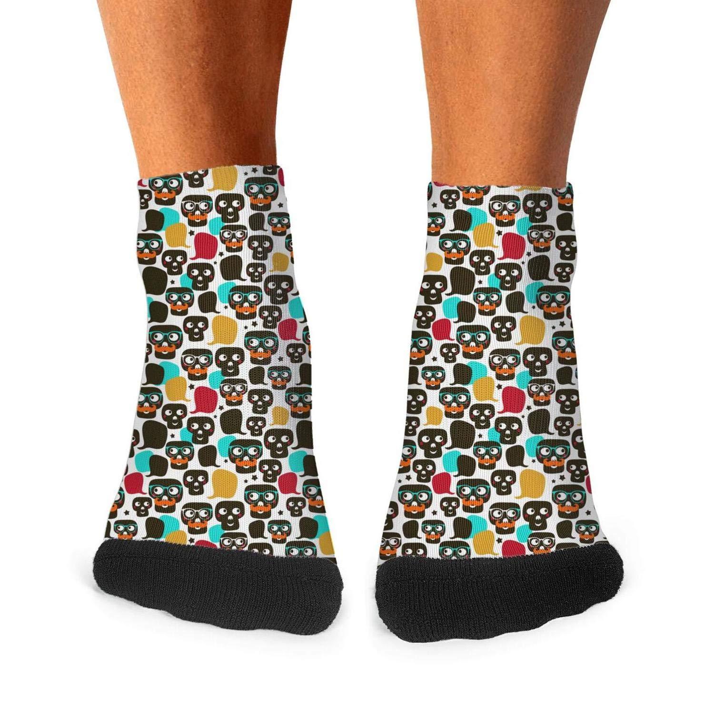 Floowyerion Mens Sugar Skull Grandfather Novelty Sports Socks Crazy Funny Crew Tube Socks
