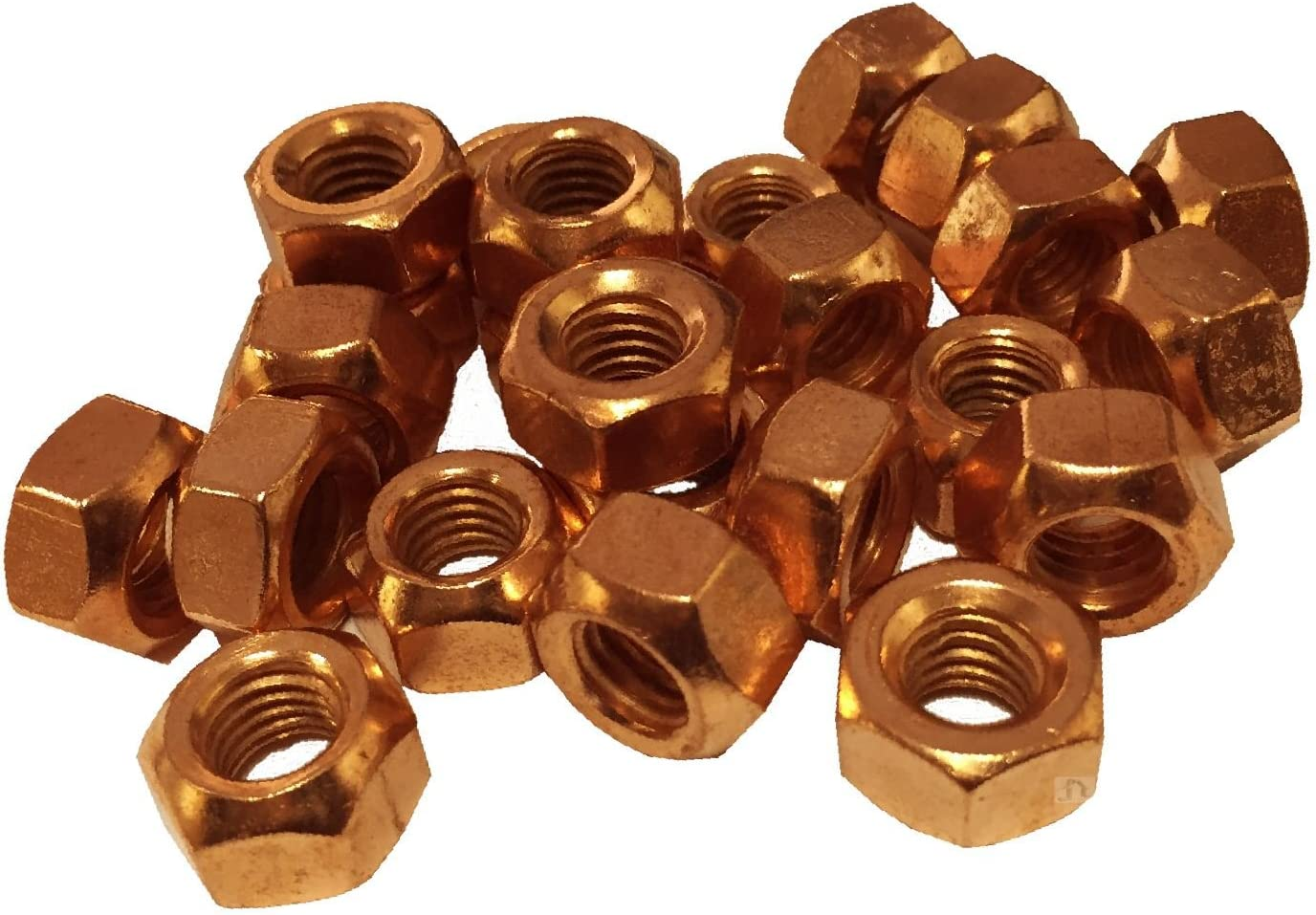Smart home 4 x Copper Flashed Exhaust Manifold Nuts M10 x 1.5 Pitch High Temperature