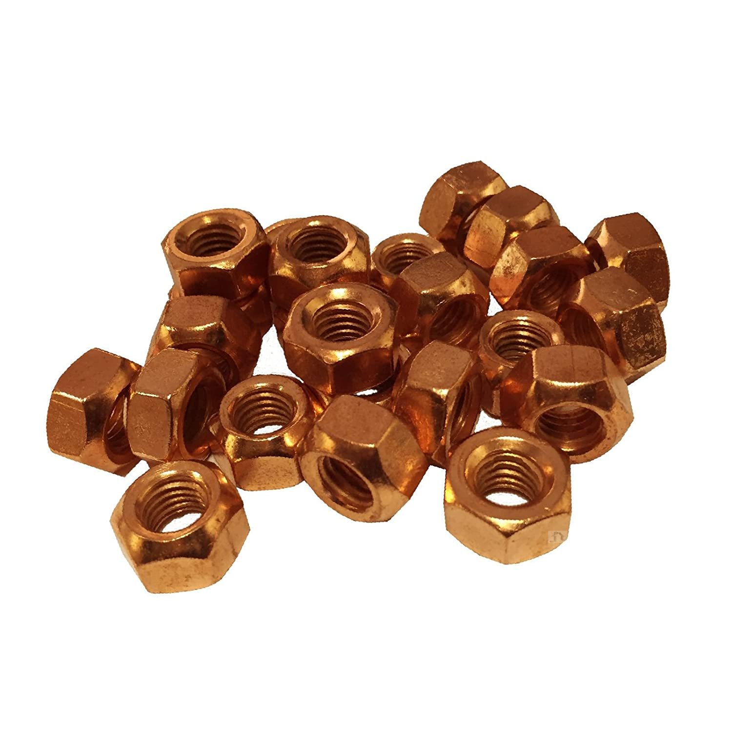 Smart home 6 x Copper Flashed Exhaust Manifold Nuts M8 x 1.25 Pitch High Temperature