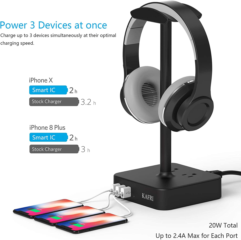iFCOW Soporte para auriculares para ordenador de escritorio