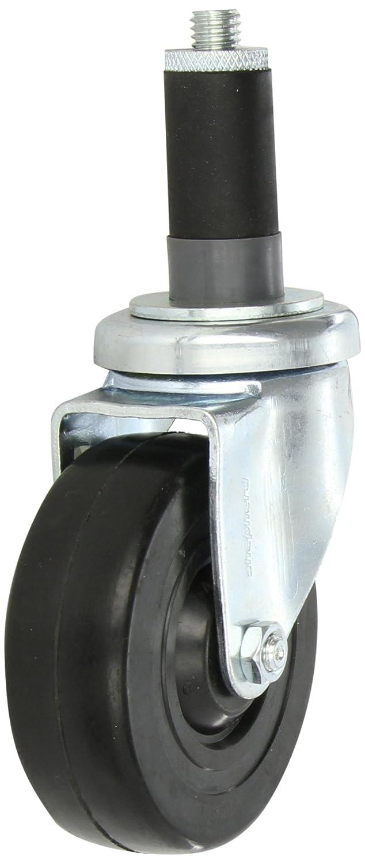 Expanding Stem 165 lbs Capacity Shepherd Institutional Series 4 Diameter Soft Rubber Wheel Swivel Caster Fits 1-1//8-1-3//16 Square Tube Diameter Fits 1-1//8-1-3//16 Square Tube Diameter Shepherd Caster Corporation 200867M
