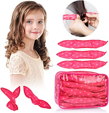 Hailicare 30pcs Foam Hair Rollers No Heat Flexible Hair Curlers Rollers Night Sleep Magic Pillow Soft Hair Rollers Diy Sponge Curly Hair Styling Tools For Long Short Hair Pink Dot