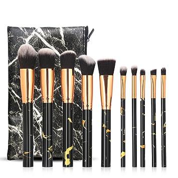 Ruikey 10 Piezas Set De Brochas De Maquillaje Profesional ...