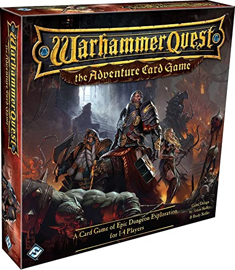 amazon com fantasy flight games warhammer quest the adventure card