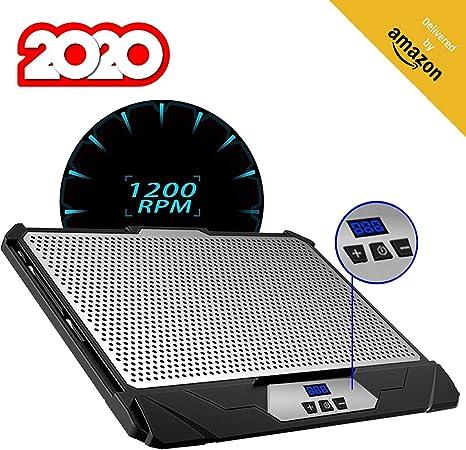 KLIM™ Swift Base de Refrigeración para Portátil Alto Rendimiento en Aluminio para PC y Mac con Soporte de Base de Refrigeración - Nueva Versión 2020 - Negro: Amazon.es: Informática