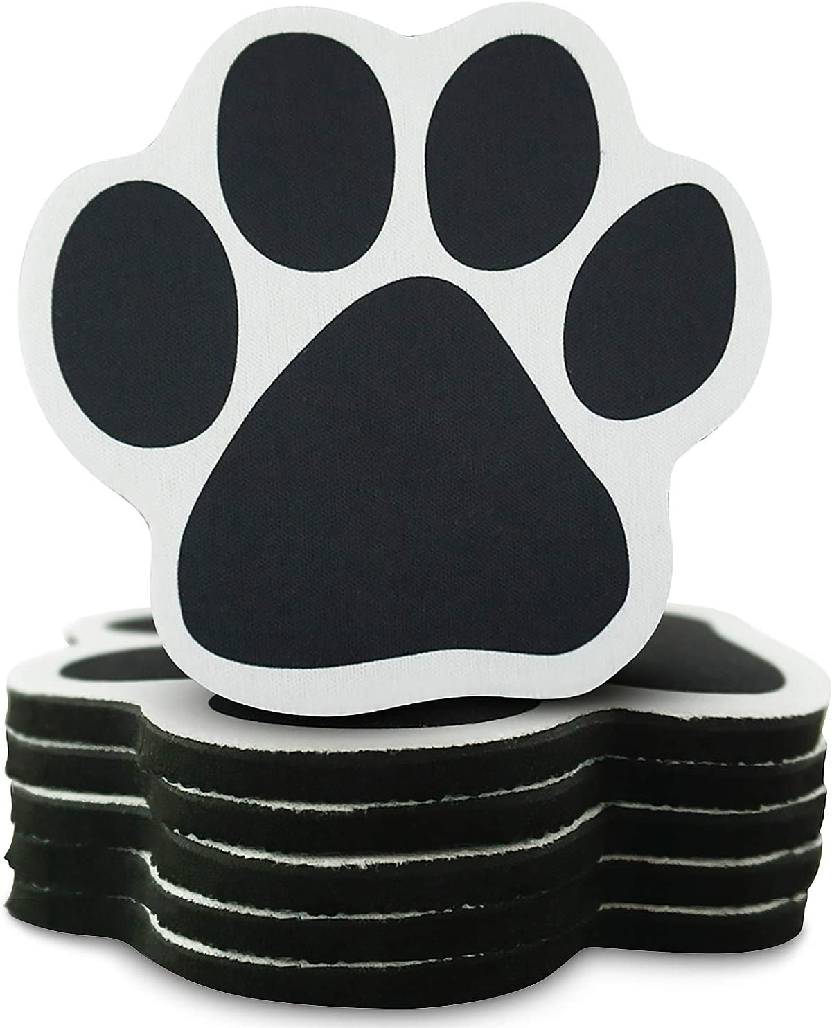 Pawtastic Padz Paw Shaped Absorbent Drink Coasters for Dog Lovers (Set of 6) - Soft, Non-Skid, Scratch Resistant Bottom - Indoor/Outdoor Use - Cute Dog Mom Gifts & Home Decor Table Gift Set