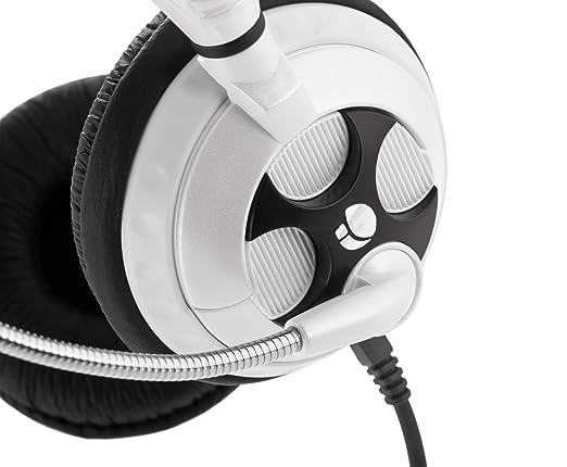 NGS White MSX7Pro Binaural Diadema Negro, Blanco auricular con micrófono - Auriculares con micrófono (PC/Juegos, Binaural, Diadema, Negro, Blanco, ...