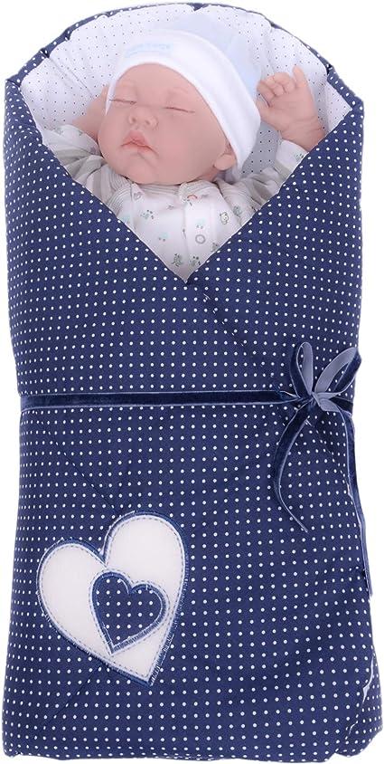 Sevira Kids Sacco per fasciatura Hearts Blu Navy
