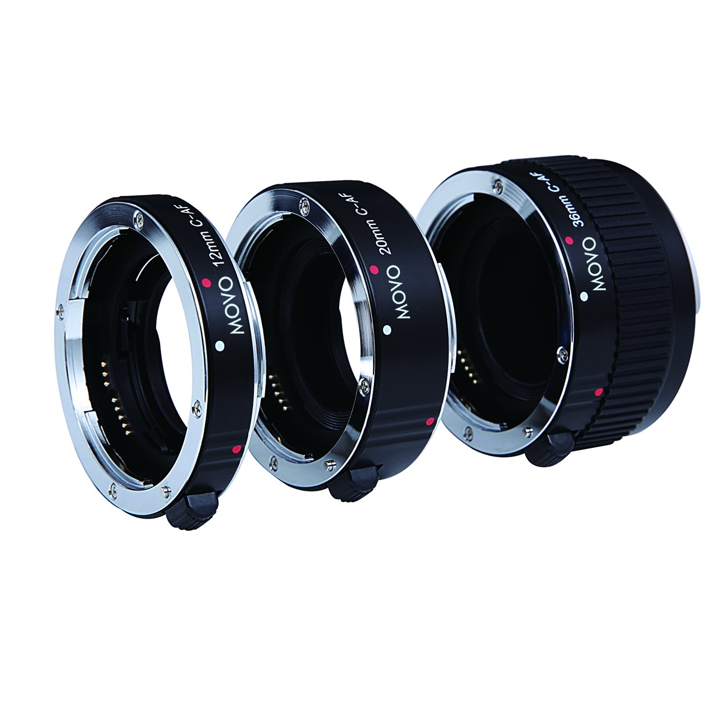 Movo Photo AF Macro Extension Tube Set for Canon EOS DSLR Camera with 12mm, 20mm and 36mm Tubes (Metal Mount) by Movo
