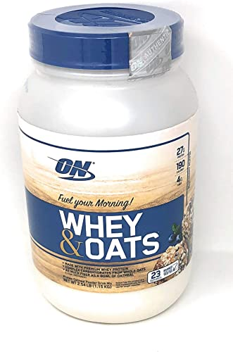 Optimum Nutrition On Whey Oats Protein Powder Blueberry Muffin, 23 Servings 2.54 lbs