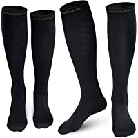 Cambivo Compression Socks for Women & Men, fit for Running, Athletic Sports, CrossFit, Flight, Travel, Pregnancy, Nurses(20-30 mmHg) - 2 Pairs