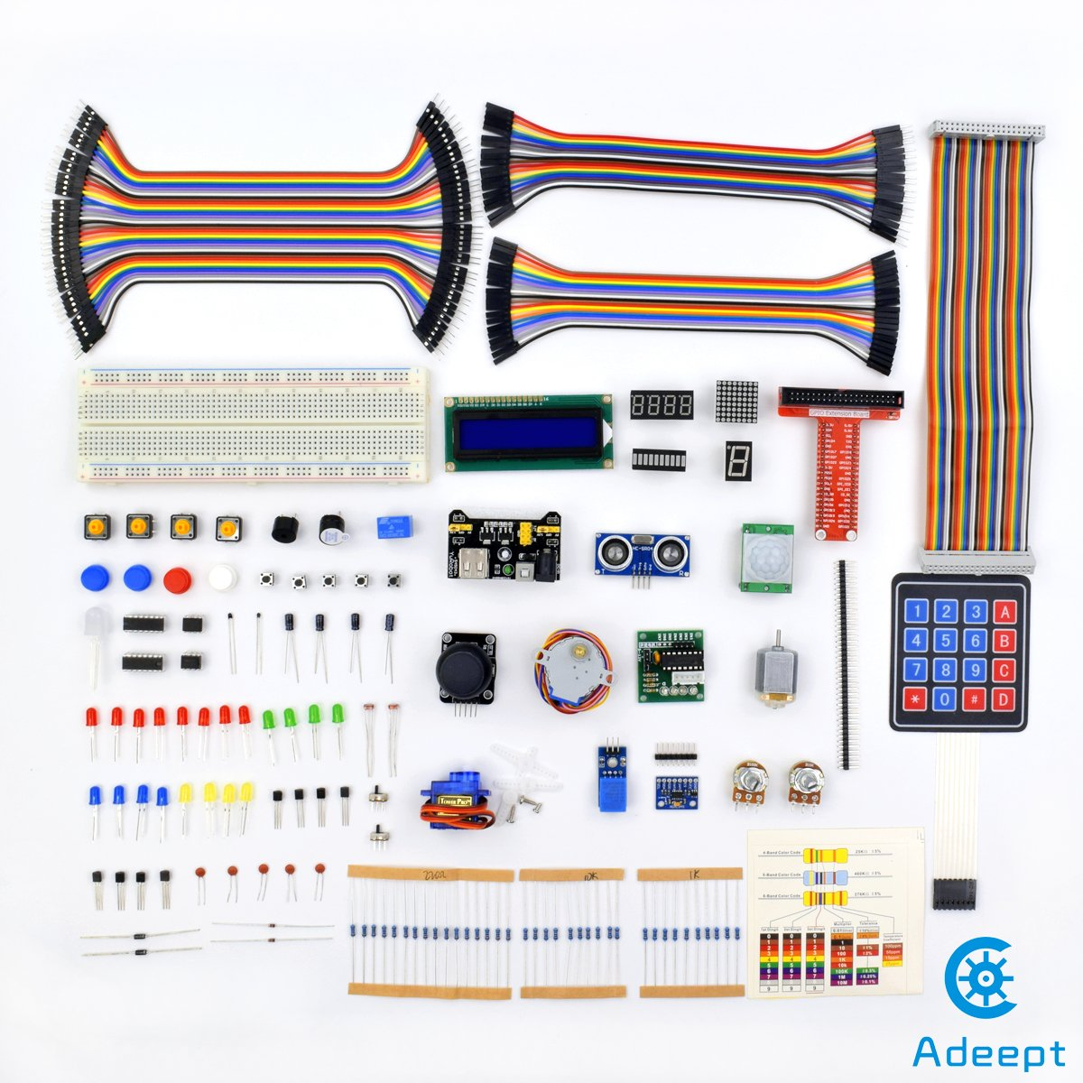 Adeept New Ultimate Starter Learning Kit For Raspberry Pi 3 2 Model B Python Adxl345 Gpio Cable Dc Motor Beginner Wiringpi Pwm Not Working With