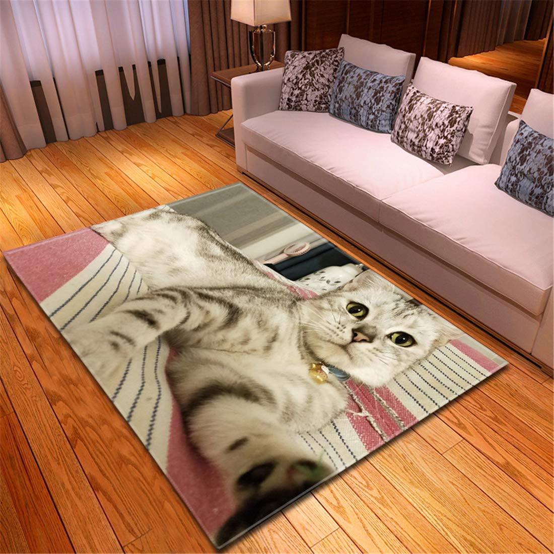 おしゃれなマット ラグ ベージュラグマット3畳 150x210cm 孟ペット猫犬ペットカーペット装飾マット滑り止めマット長正方形機械織りl19011249 B07TN2WCXP l19011251 150x210cm